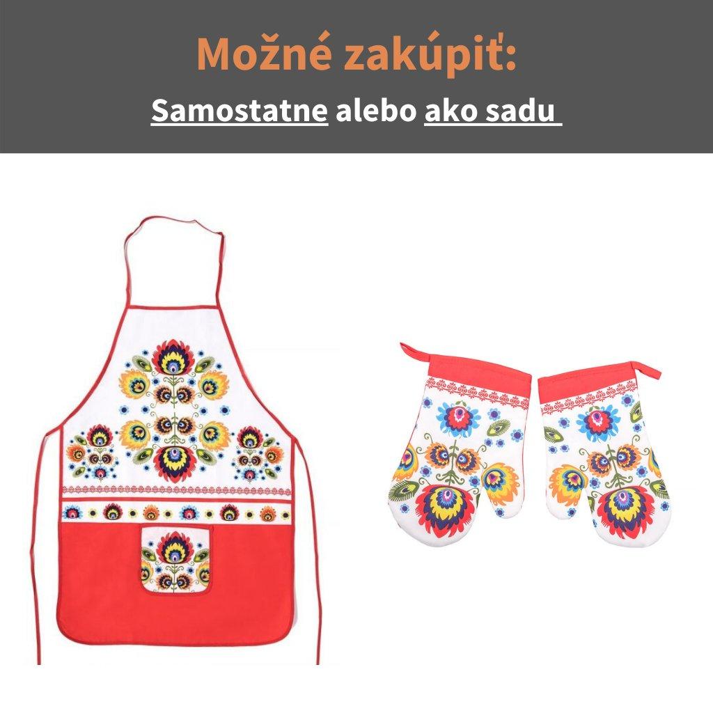 Kuchynské chňapky FOLK 2 so zásterou
