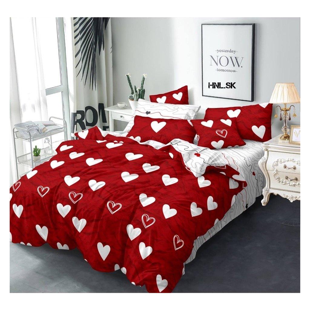 TOP 3D Hearts Red Foto obliečky