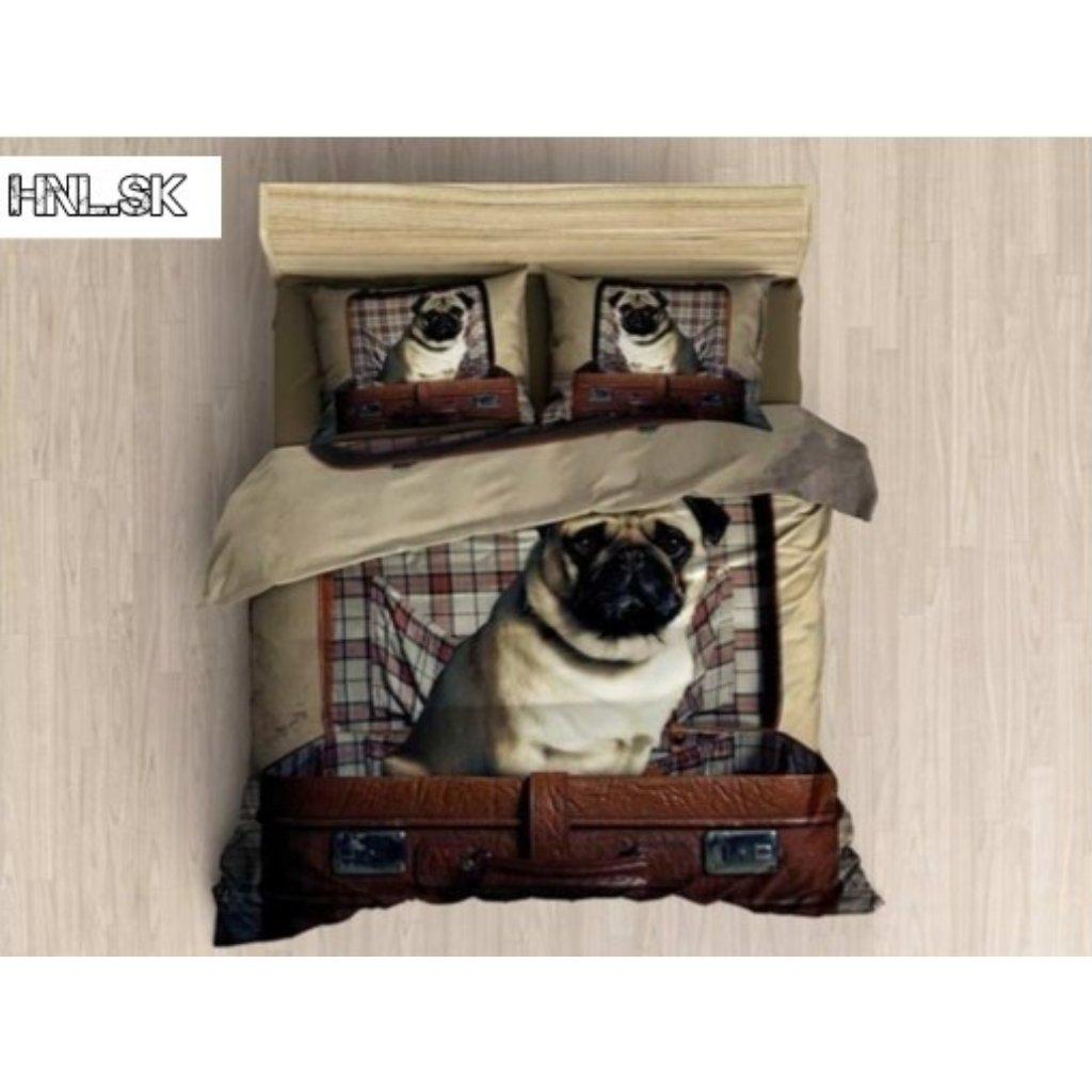TOP 3D Pug Dog 031 Foto obliečky