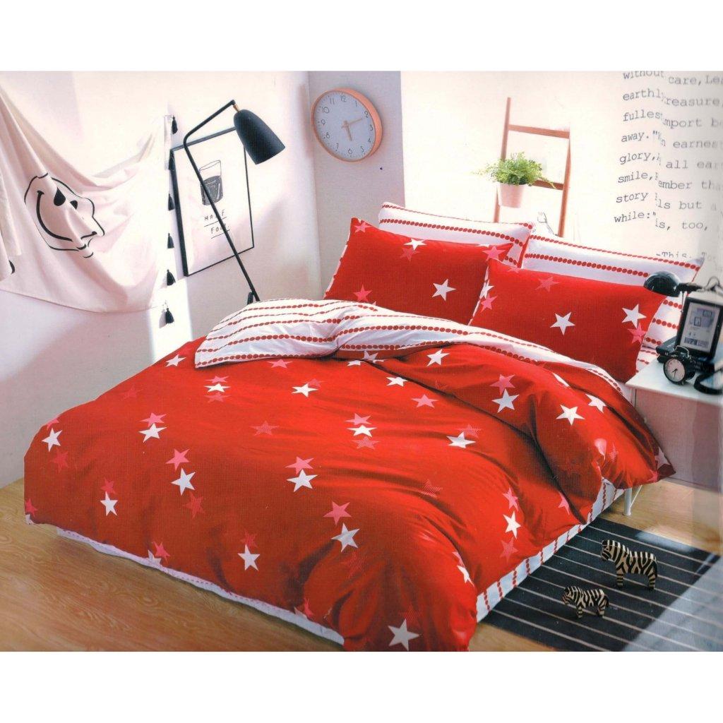 TOP FOTO obliečky 3 alebo 7-dielne Stars červené