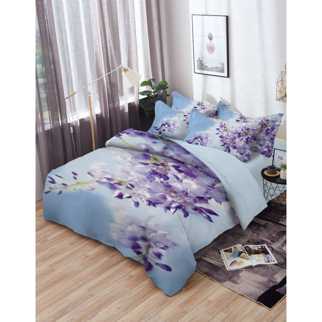 TOP 3D Purple Flowers  Foto obliečky