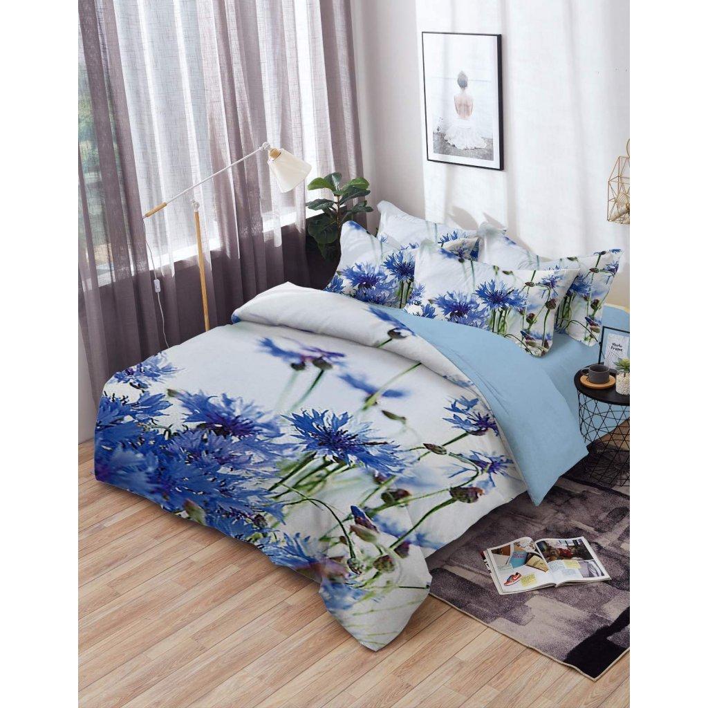 TOP 3D Blue Flower Foto obliečky