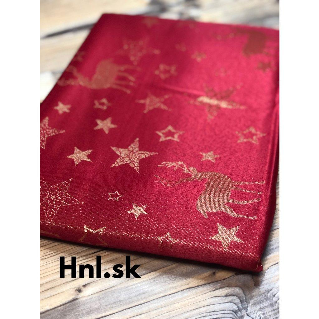 vianocny obrus cerveny hviezdicky