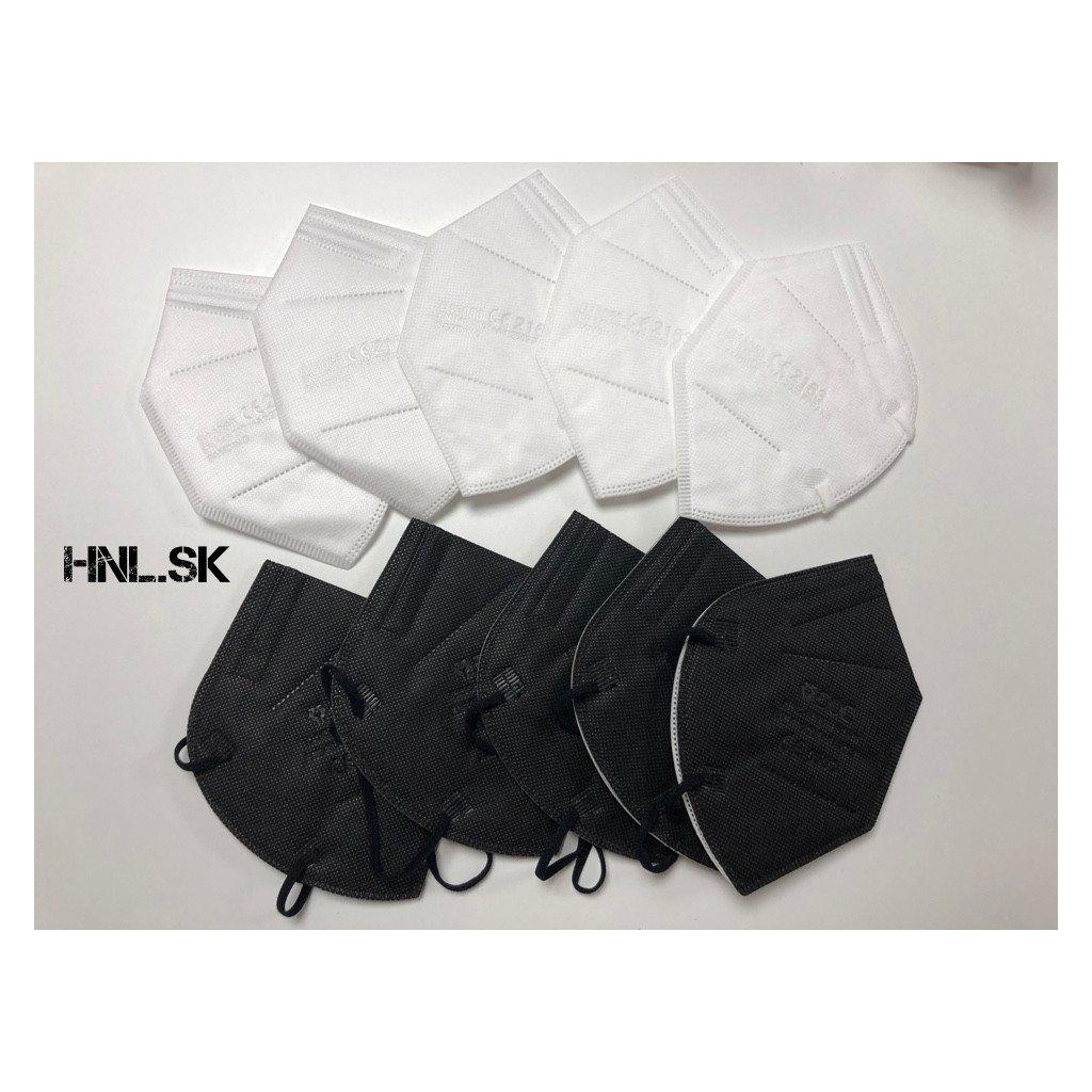 Respirátor FFP2 biely a čierny -10ks
