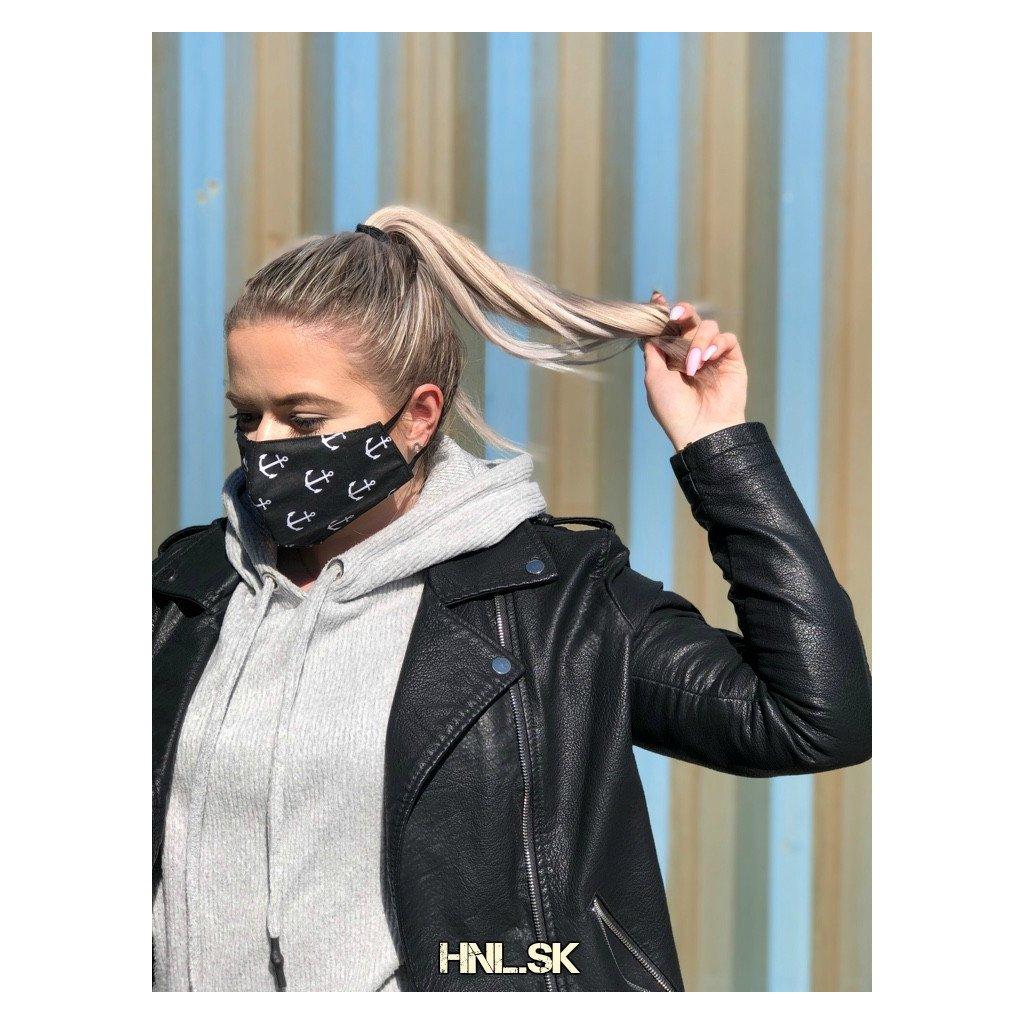 Ochranné rúško z dvoch vrstiev 100% bavlny - Kotva