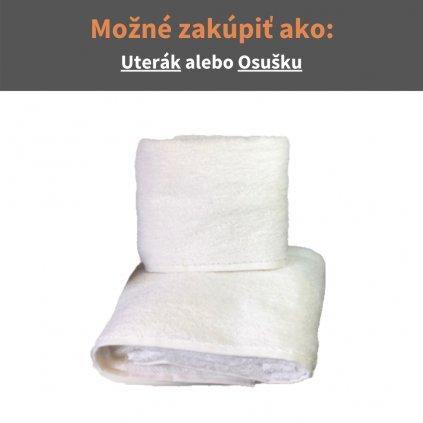 Froté uterák a osuška Biela