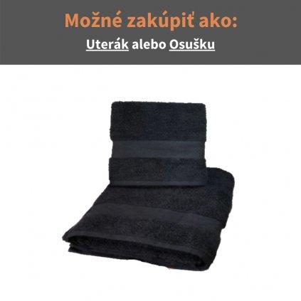 Froté uterák a osuška Čierna