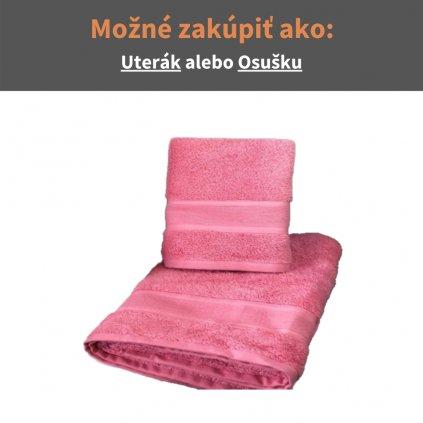 Froté uterák a osuška Ružová