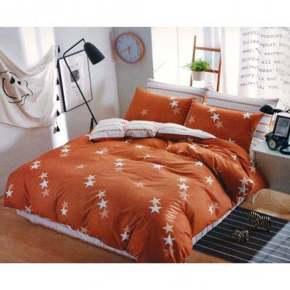 TOP FOTO obliečky 3 alebo 7-dielne Stars oranžové