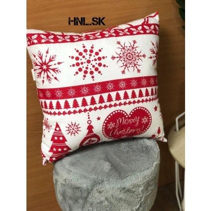 Vianočný vankúš X-Mas Červený