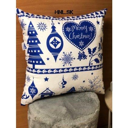 Vianočný vankúš X-Mas Modrý
