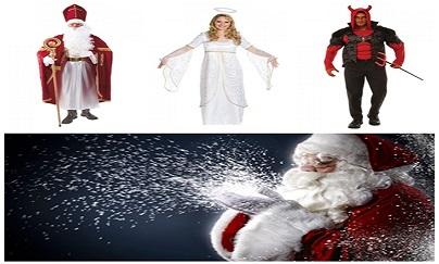 Mikuláš, Anděl, čert a Santa
