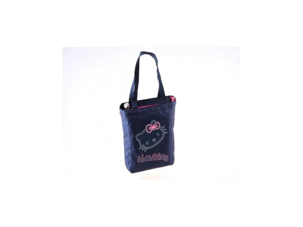 23768 Dívčí taška Hello Kitty modrá-jeans