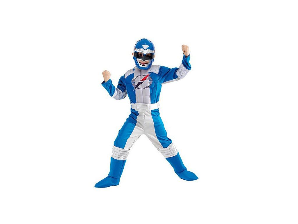 Power Ranger Blue Muscle Chest - licenční kostým  D