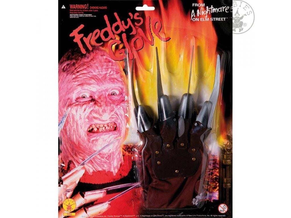 Freddy rukavice - licence  Halloween