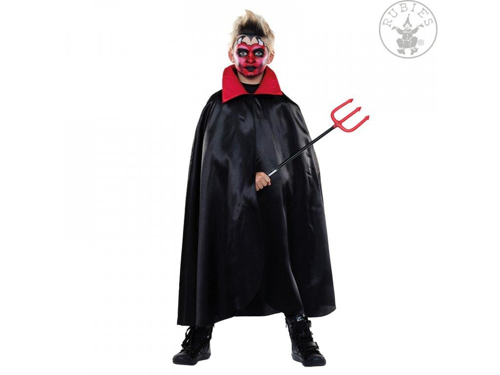 Plášť čert s límcem  dětský - chlapecký karnevalový - maškarní kostým