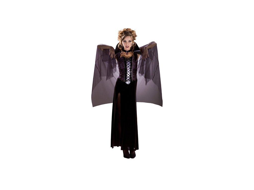 Midnight Vampira black  dámský karnevalový kostým vhodný nejen na Halloween