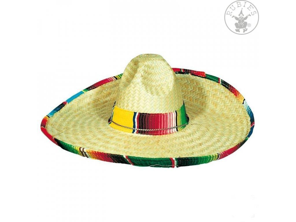 Klobouk mexický s barevným lemem D