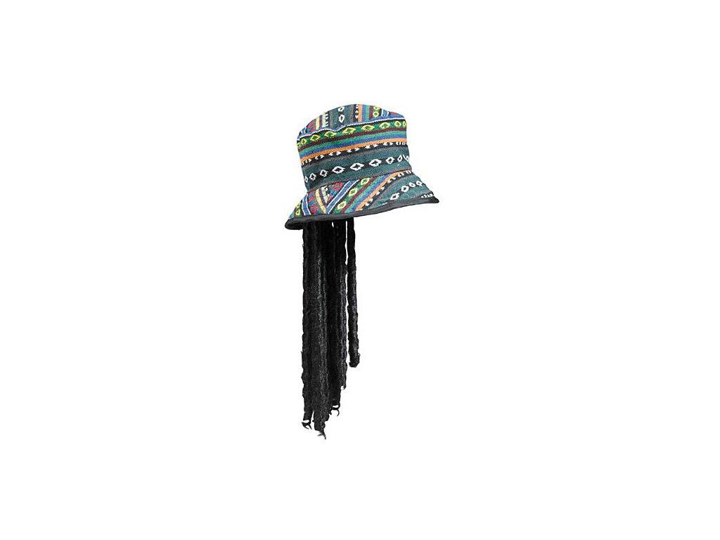 Rasta klobouk s dredy D