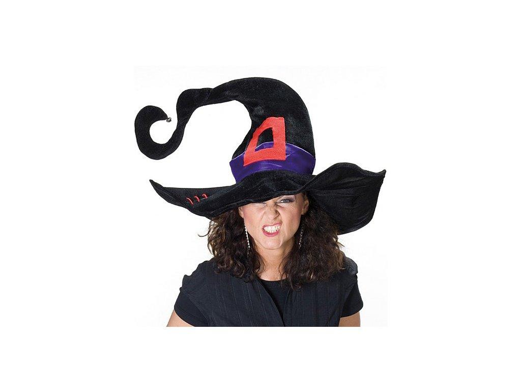 Čarodějnický klobouk s rolničkou D  dámský klobouk pro čarodějnice