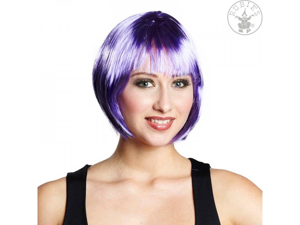 Trixy fialová - karnevalová paruka D