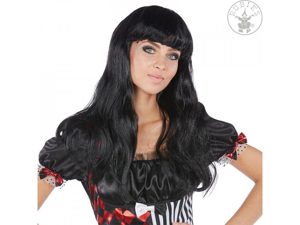 Glamour černá - karnevalová paruka (54365)
