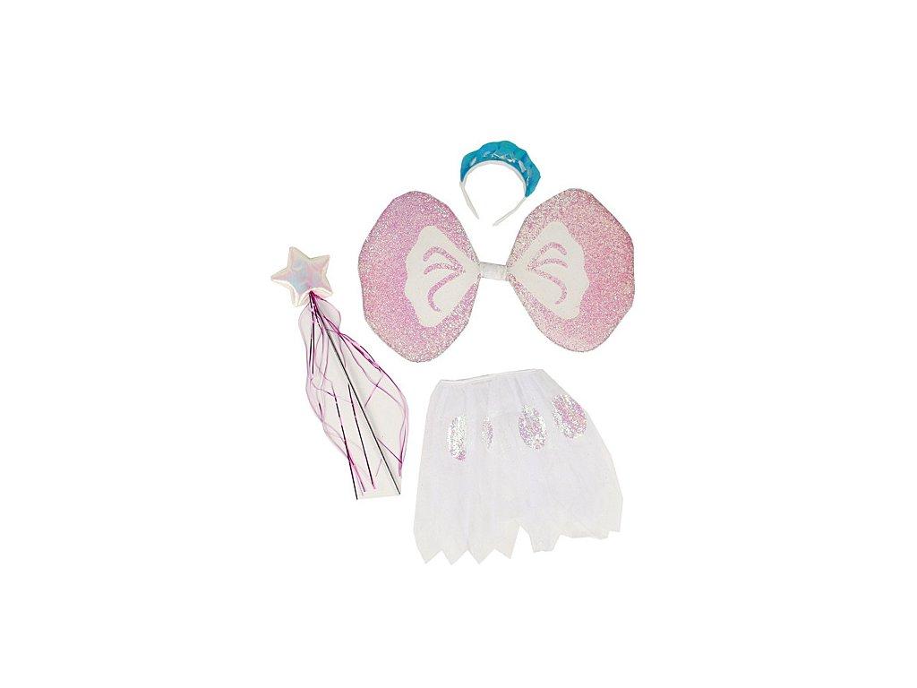 Víla set D  dětský dívčí karnevalový maškarní kostým