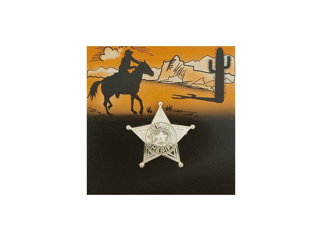 Šerifská hvězda zlatá malá 10ks D