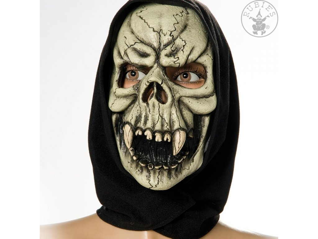 Maska smrtka s šátkem  strašidelná maska vhodná nejen na Halloween