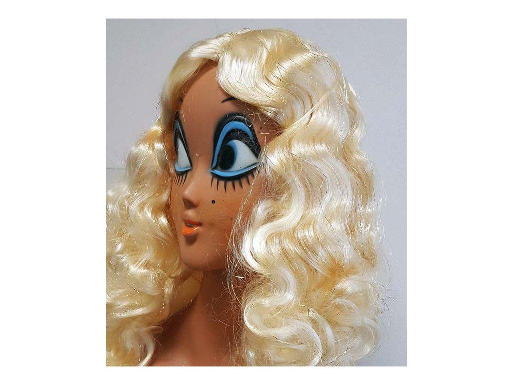 Anděl s flitry - dlouhé vlasy blond  andělská paruka