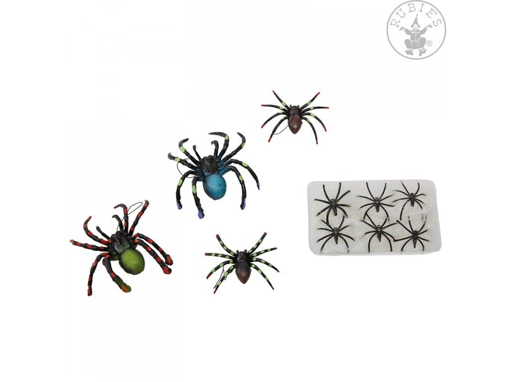 Pavučina s pavouky  dekorace Halloween