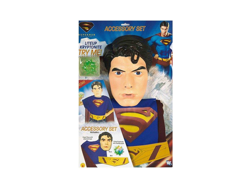 Superman Blister set (6 - 10 roků) - licenční kostým  D  dětský - chlapecký karnevalový - maškarní kostým