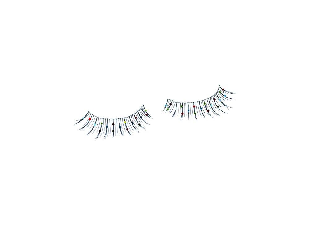 Řasy s perličkami bunt 18036 - D