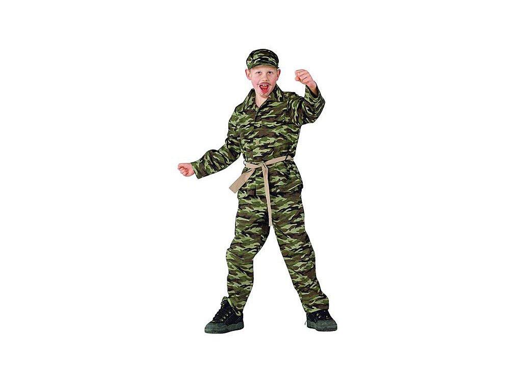 Voják - kostým na karneval D  dětský - chlapecký karnevalový - maškarní kostým