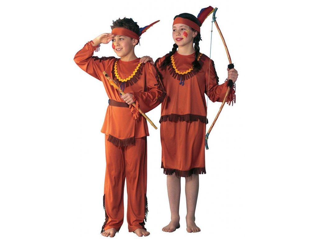 Indiánka - kostým D  dětský dívčí karnevalový maškarní kostým