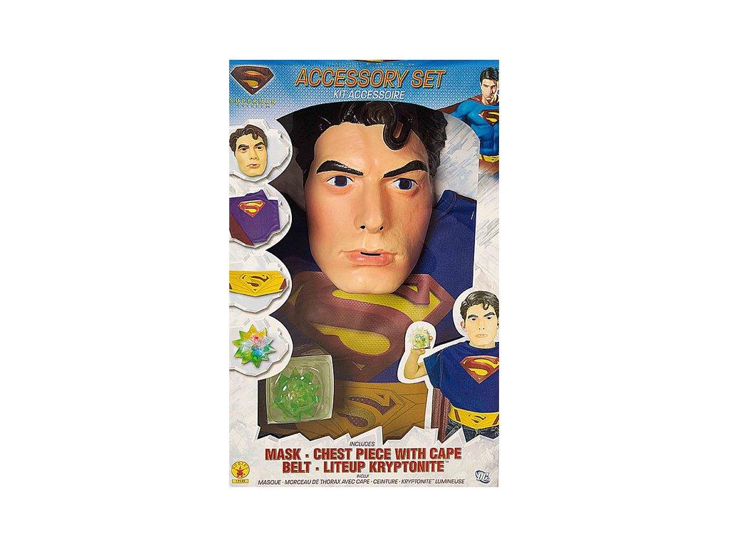Superman Box set (6 - 10 roků) - licenční kostým D  dětský - chlapecký karnevalový - maškarní kostým