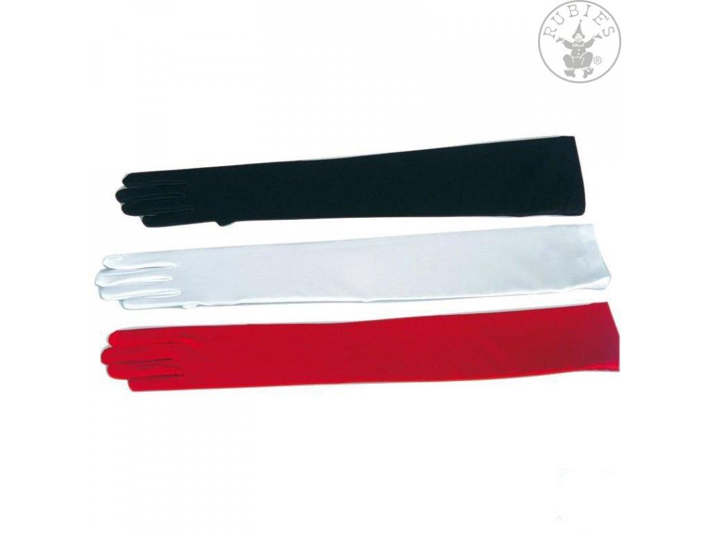 Rukavice hladké dlouhé červené