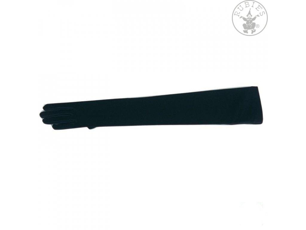 Rukavice hladké dlouhé černé