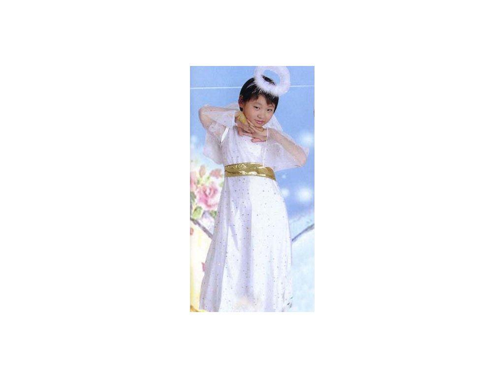 Andílek - dětský kostým  dětský dívčí karnevalový maškarní kostým
