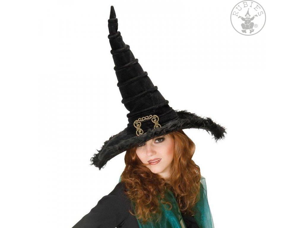 Čarodějnický nový se sponou  dámský klobouk vhodný nejen pro čarodějnice