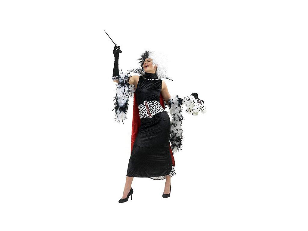 Cruella de Vil  - licenční kostým  dámský karnevalový kostým