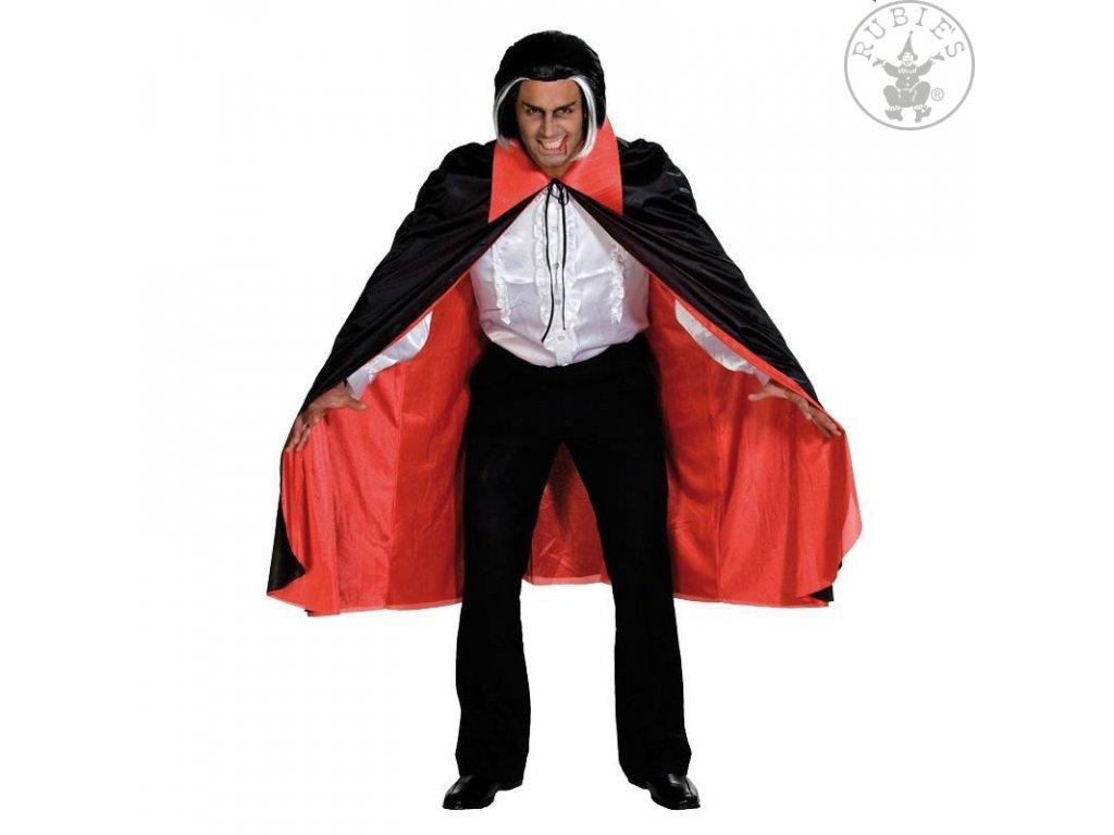 Dracula plášť s červenou podšívkou STD  pánský strašidelný karnevalový kostým vhodný nejen na Halloween