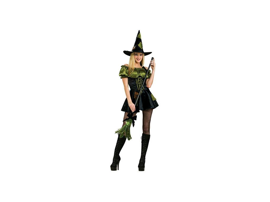 Green Patch Witch D  dámský karnevalový kostým sexy čarodějnice