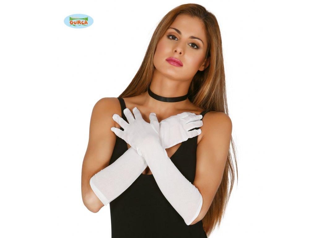Rukavice dlouhé bílé