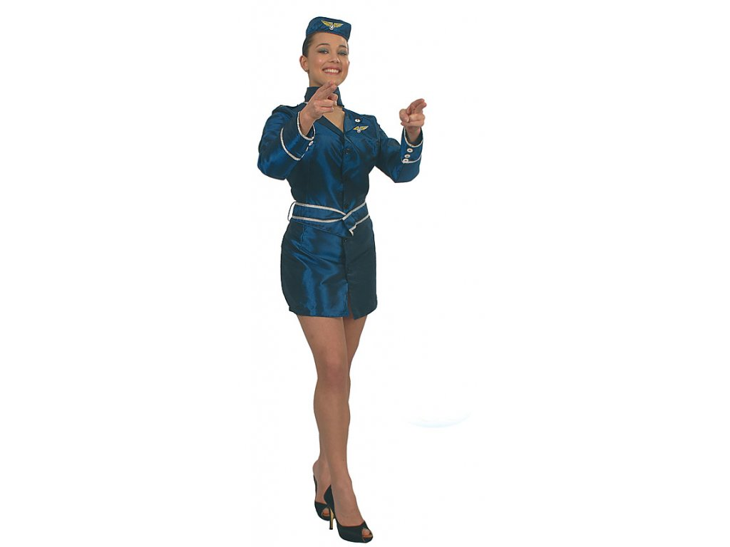 Stevardka - D  dámský karnevalový kostým
