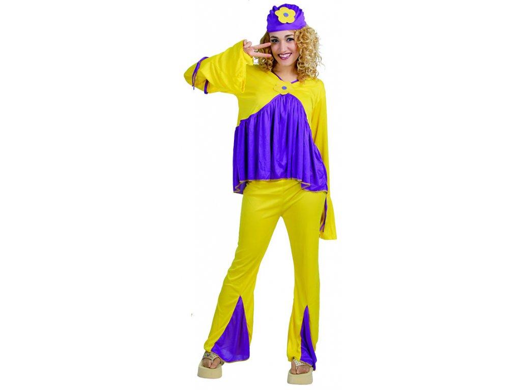 Hippie - dámský karnevalový kostým D  dámský karnevalový kostým