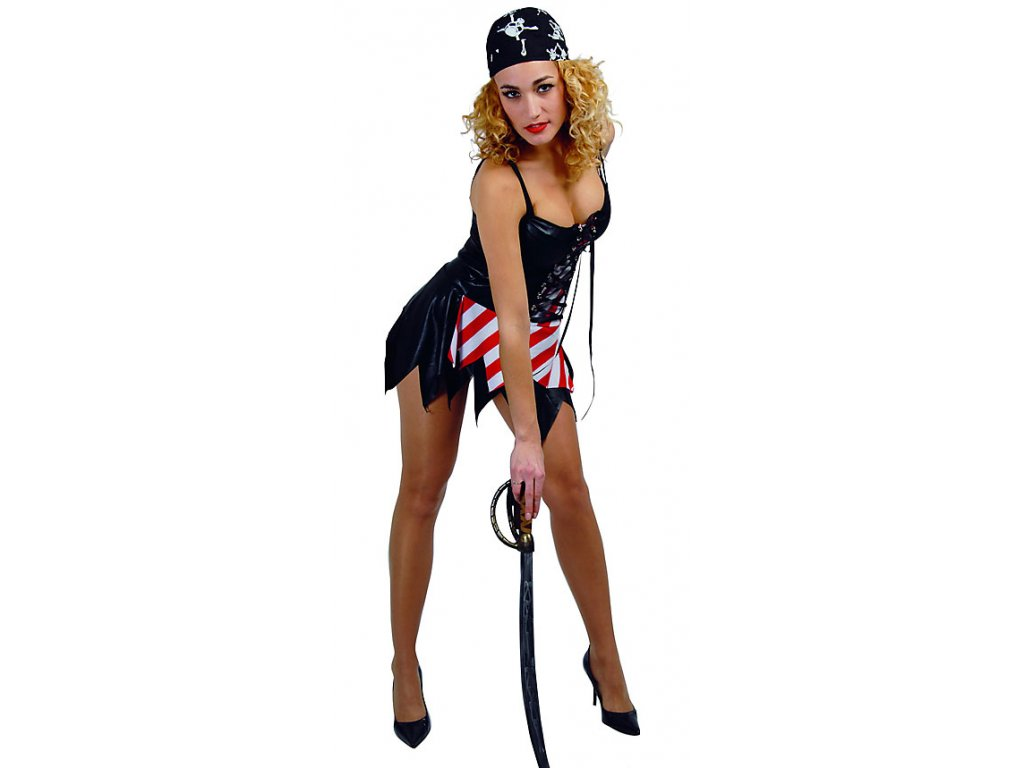 Sexy pirátka - kostým - D  dámský karnevalový kostým