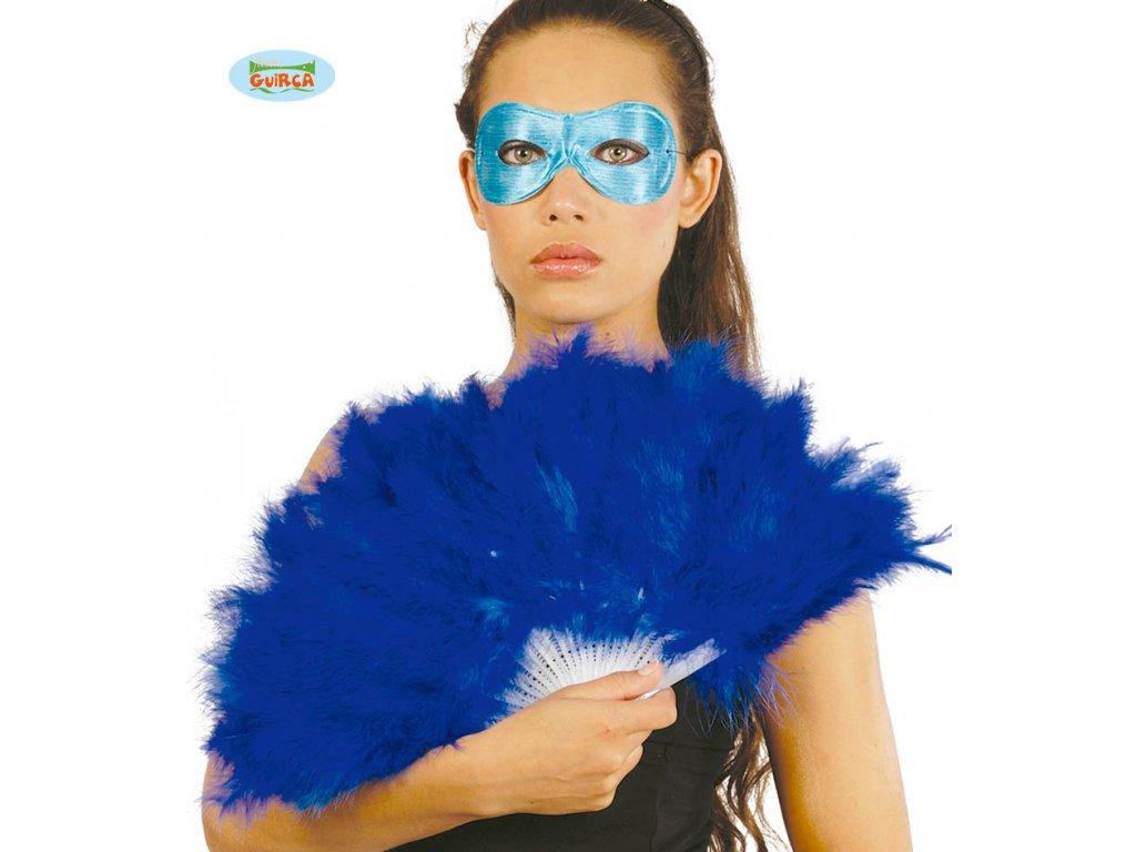 Vějíř péřový modrý  -25 cm