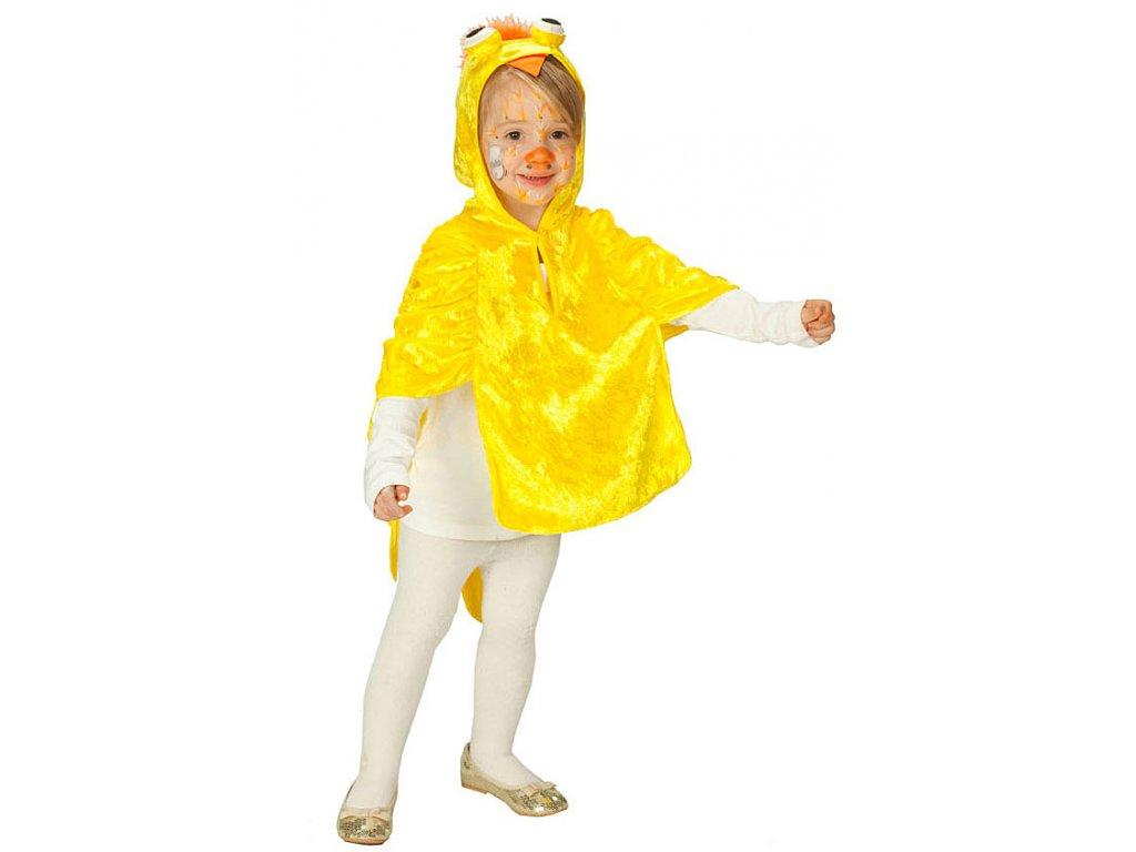 Kuřátko pelerína - dětský karnevalový kostým D