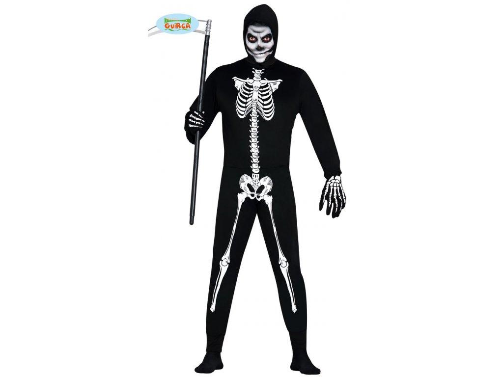 Smrtka - karnevalový kostým  pánský strašidelný karnevalový kostým vhodný nejen na Halloween